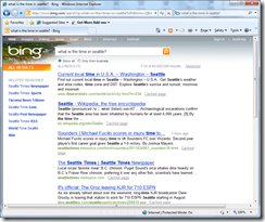 Search results from Bing